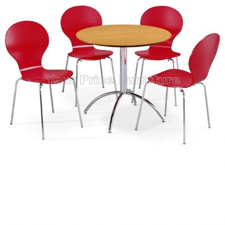 Kimberley Dining Set Natural & 4 Red Chairs Sale Now On Your Price Furniture